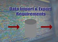 Detailed Requirements for Data Importing and Exporting
