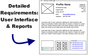 Detailed Requirements for User Interfaces and Reports