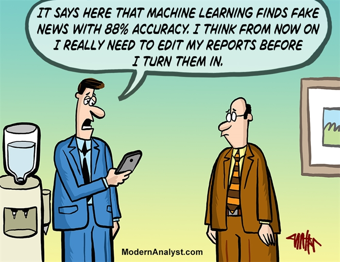 Humor - Cartoon: Machine Learning and the Weekly Status Report