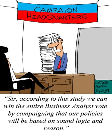 Humor - Cartoon: How to Entice a Business Analyst