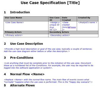 End-to-End UML: Use Case Specification