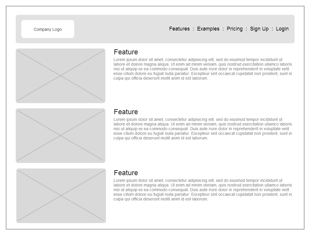 Visual Model #3 – User Interface Wireframes