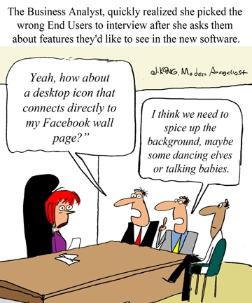 Humor - Cartoon: Make sure to select the right Stakeholders for your project