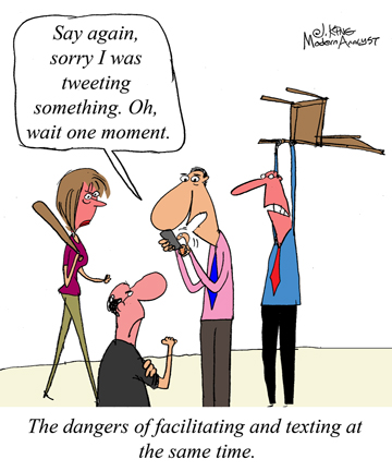 Humor - Cartoon: Stay focused when facilitating requirements workshops