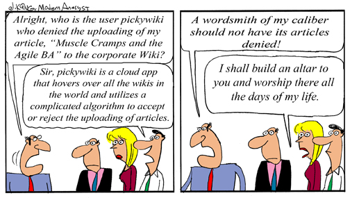 Humor - Cartoon: The Wordsmith Business Analysis Manager