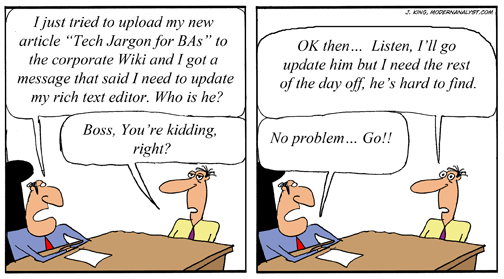 Humor - Cartoon: Tech Jargon for the Business Analyst