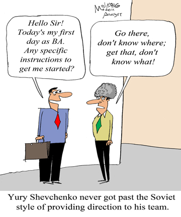 Humor - Cartoon: How to Provide Direction to a Business Analysis Team