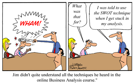 Humor - Cartoon: When You Get Stuck in Your Business Analysis...