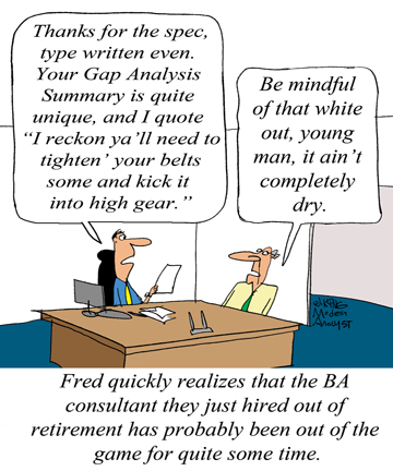 Humor - Cartoon: Keep Your Business Analysis Skills Current