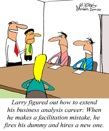Humor - Cartoon: Renew your career as a Business Analyst