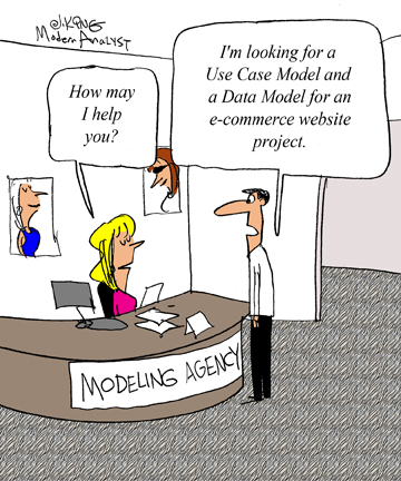 Humor - Cartoon: The Business Analyst's Quest for the Perfect Model