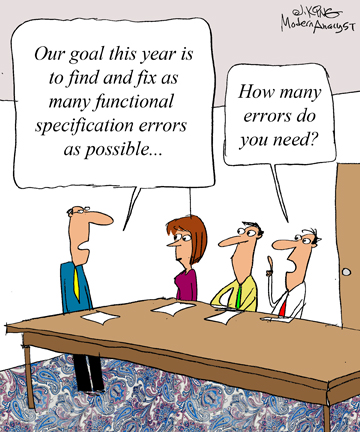 Humor - Cartoon: Goals for Business Analysts