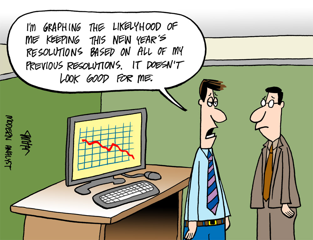 Humor - Cartoon: Happy New Year Business Analysts!  Any resolutions?