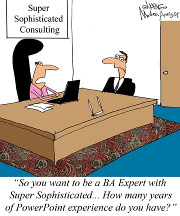 Humor - Cartoon: Needed: Super-Sophisticated Business Analyst