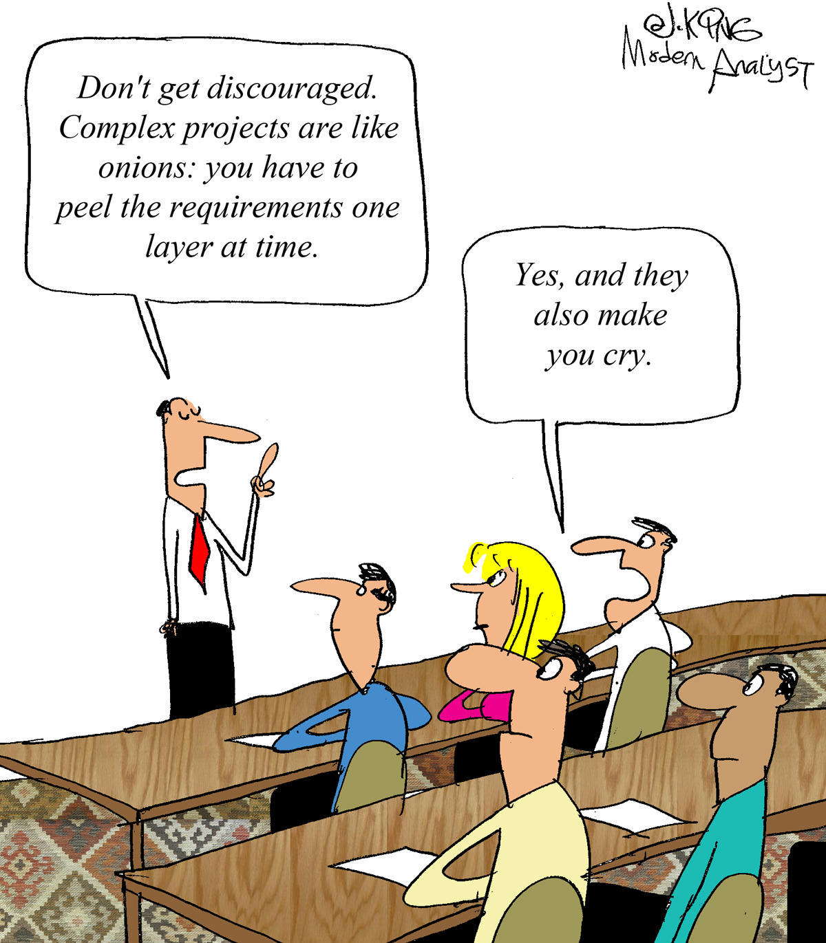Humor - Cartoon: Projects with Complex Requirements...
