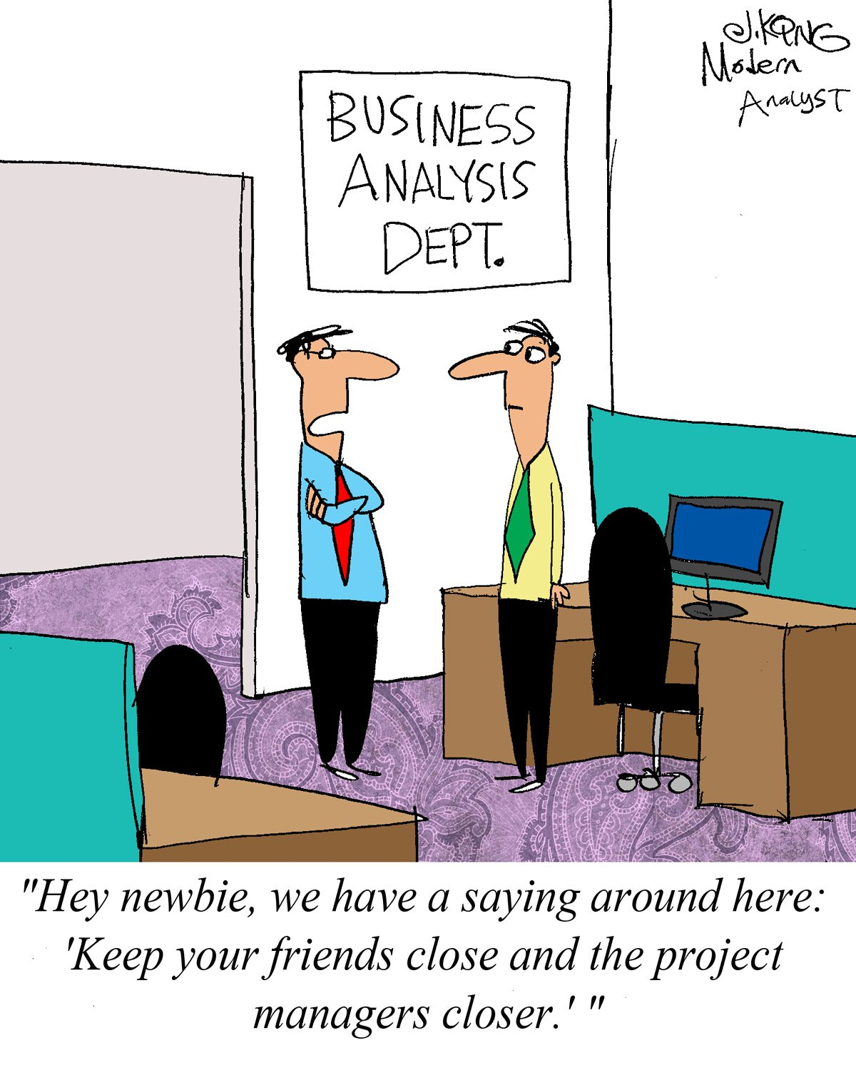 Humor - Cartoon: Advice for the New Business Analyst