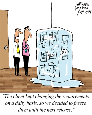 Humor When Requirements Keep Changing