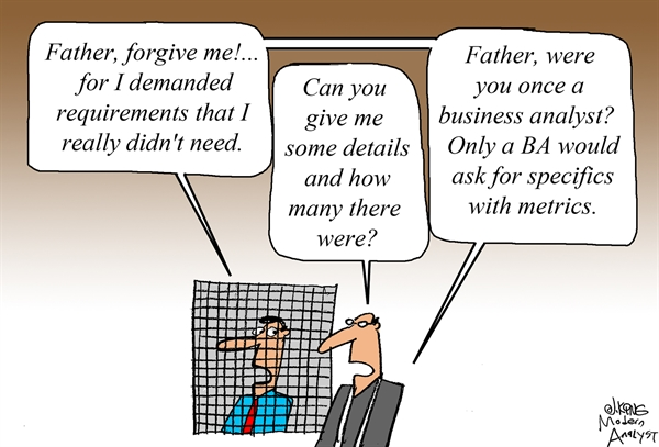 Humor - Cartoon: Father, forgive me for I have sinned...