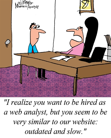 Humor - Cartoon: Web Analyst Candidate