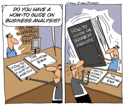 Humor - Cartoon: What skills does a Business Analyst need to have?