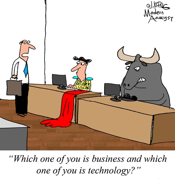 Humor - Cartoon: Difference between Business and IT (Technology)