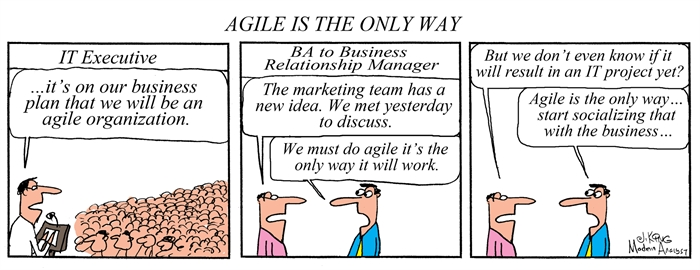 Humor - Cartoon: Agile Is the Only Way