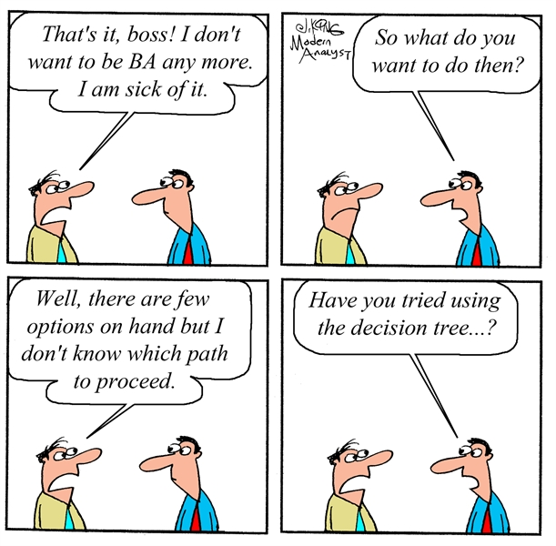 Humor Business Analyst Career Decision