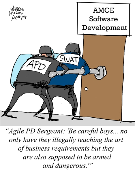 Humor - Cartoon: Analysts: Armed and Dangerous