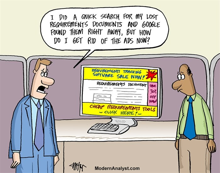 Humor - Cartoon: Lost Requirements Documents
