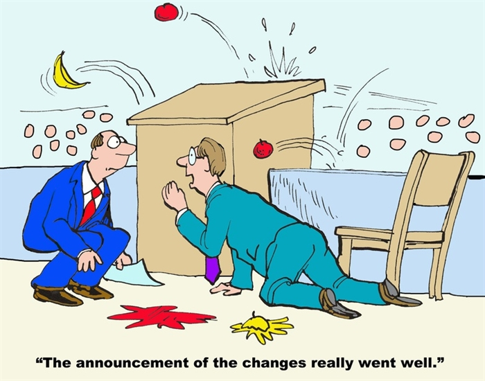 Humor: Change Management Made (not) Easy