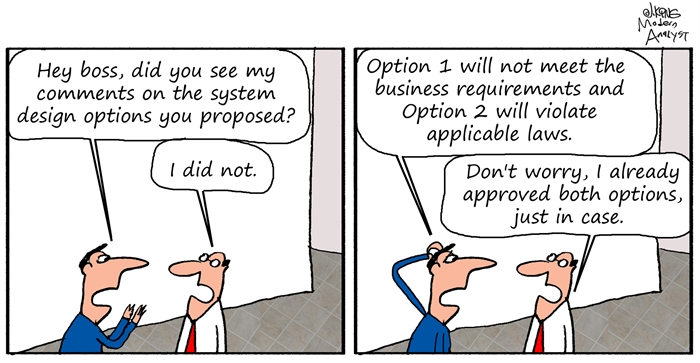 Humor: System Design Options