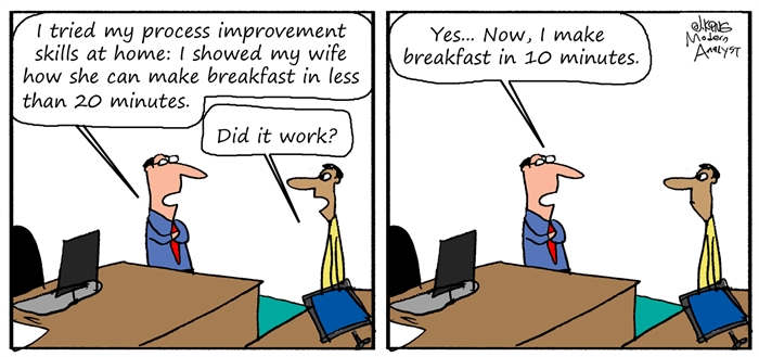 Humor - Cartoon: Process Improvement at Home