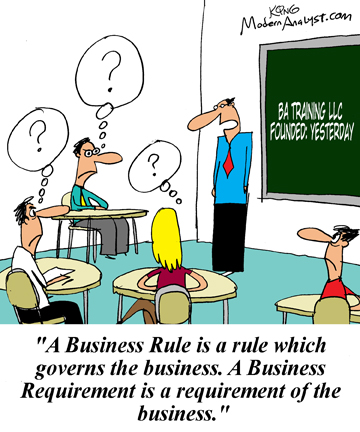 Humor - Cartoon: Pick your Business Analysis training provider Very Carefully
