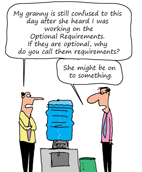 Humor: Optional Requirements
