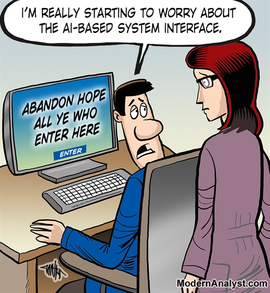 Humor - Cartoon: Artificial Intelligence User Interface
