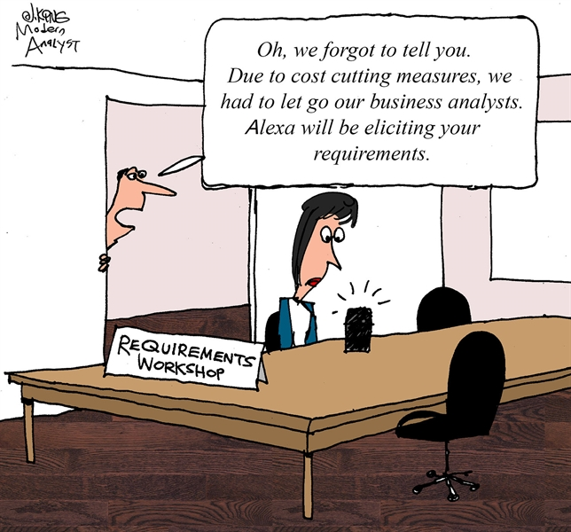 Humor - Cartoon: Digital Requirements Elicitation