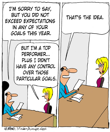 Humor - Cartoon: A Business Analyst's puzzling annual evaluation