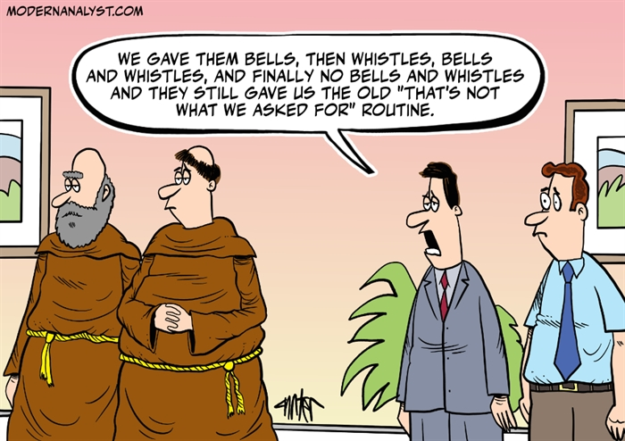 Humor - Cartoon: Give us Bells And Whistles