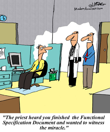 Humor - Cartoon: Functional Specification Miracle