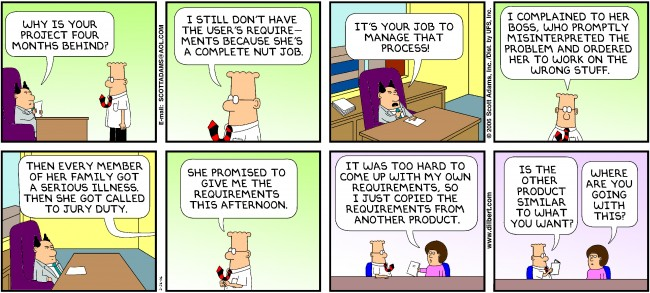 Humor - Cartoon: How hard can it be to get the User Requirements?