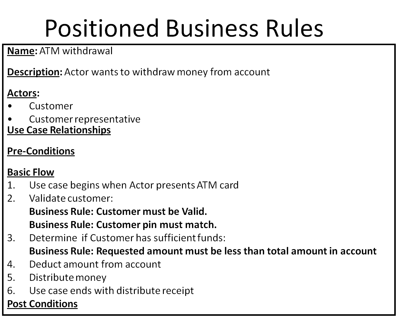 Use cases and business rules can they work together for Use case narrative template doc